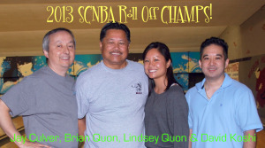 2013 SCNBA Roll Off 1st Place