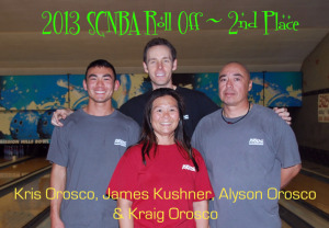 2013 SCNBA Roll Off 2nd Place
