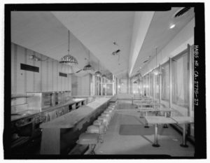 The Holiday Bowl Coffee Shop in 2002 prior to demolition | Library of Congress, Prints & Photographs Division, Historic American Buildings Survey